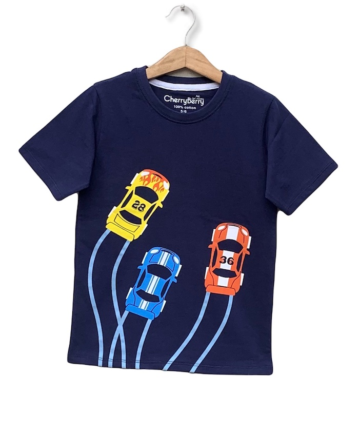 cars printed pack of 8 T-shirts