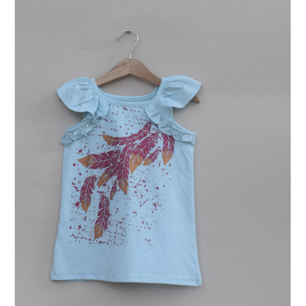Girls Printed T-shirt -Price pack of 5 pcs