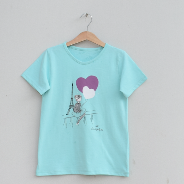 Girls Printed T-shirt -Price pack of 6 pcs (Ks19G0...